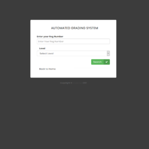 Checking Result Form : Automated Result Grading System