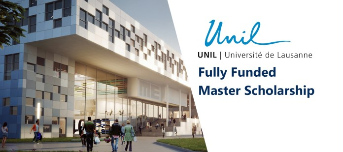 Latest International Scholarship - UNIL Master's grants Scholarship