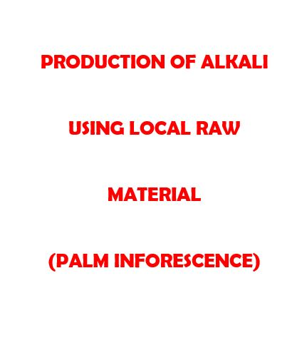 Production of alkali using local raw material
